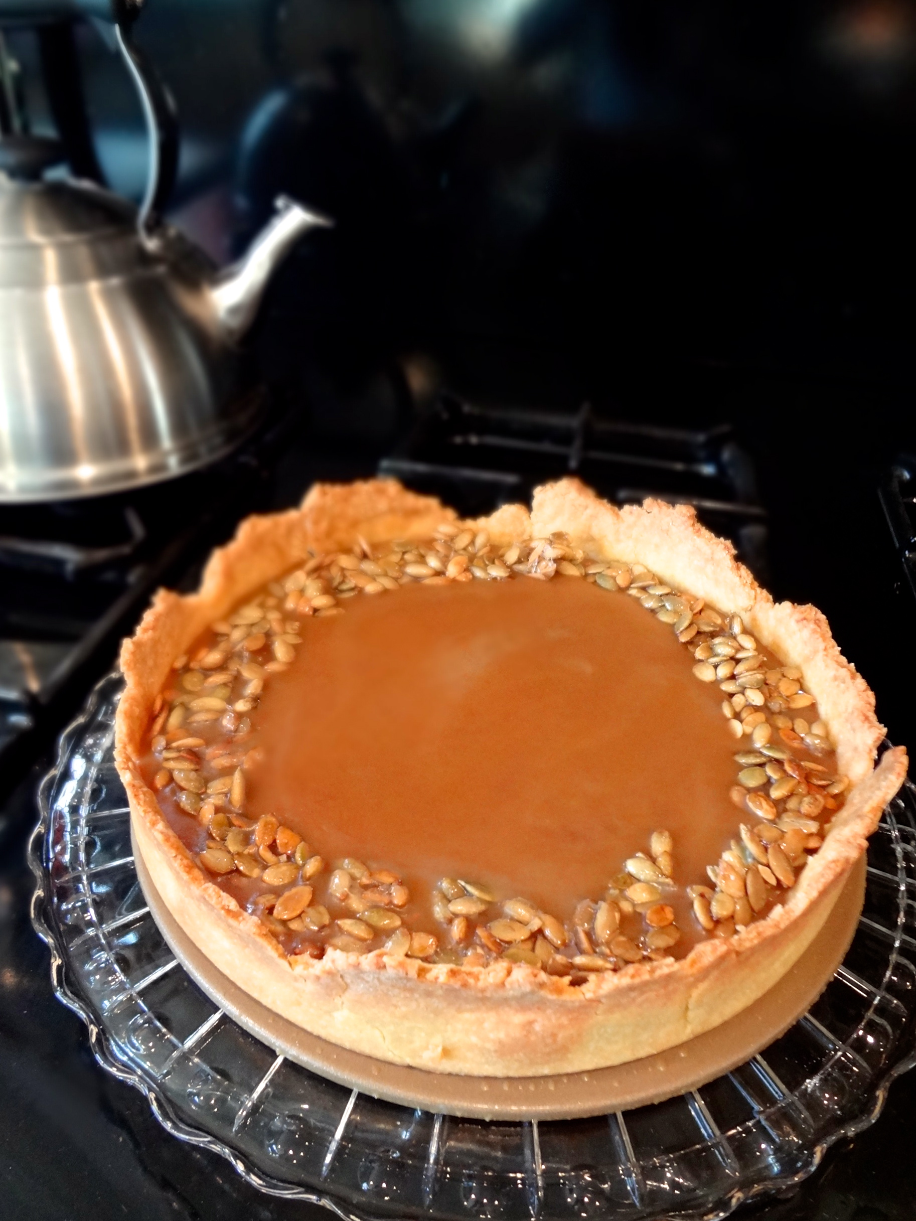 ... holiday cottage bourbon pumpkin tart with walnut streusel recipe
