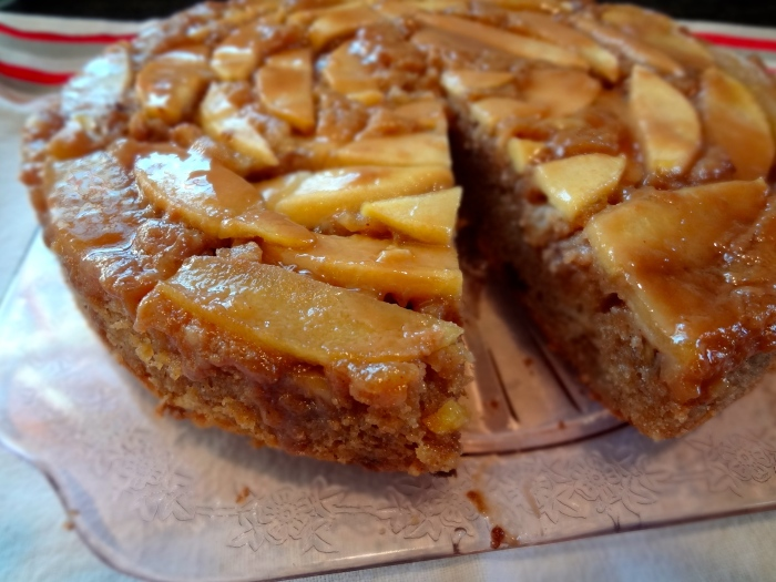 Upside Down Bourbon-Caramel Spiced Apple Cake: The Briarwood Baker