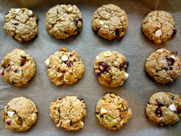Brown Butter Oatmeal Cookies with Cranberries, Pistachios, and White Chocolate: The Briarwood Baker