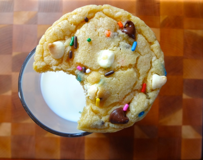 Cake Batter Chocolate Chip Cookies: The Briarwood Baker