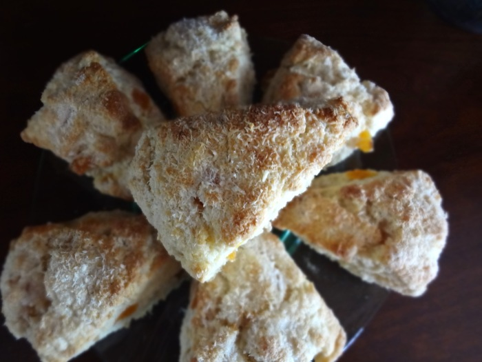 Coconut Apricot Scones: The Briarwood Baker